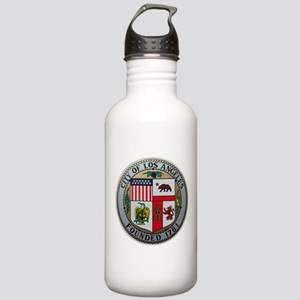 "3.2"" LA City Seal on a Stainless Water Bottle"